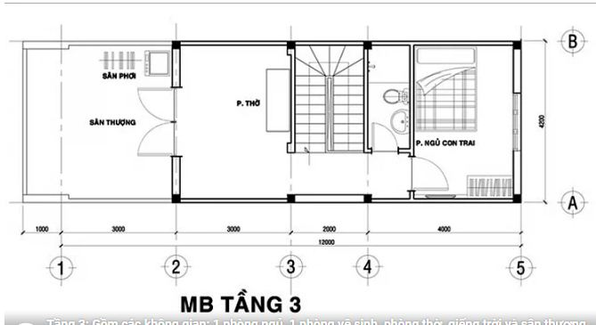 Mẫu thiết kế nhà ống đẹp 3 tầng hiện đại 76m2. 4