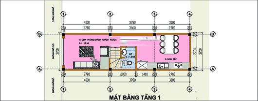 Mẫu thiết kế nhà ống đẹp 4 tầng 3,2x11m. 1