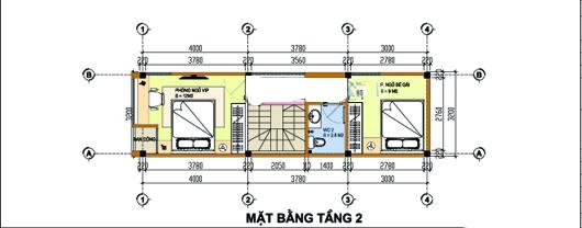 Mẫu thiết kế nhà ống đẹp 4 tầng 3,2x11m. 2