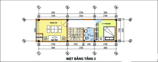 Mẫu thiết kế nhà ống đẹp 4 tầng 3,2x11m. 3