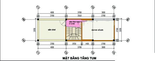 Mẫu thiết kế nhà ống đẹp 4 tầng 3,2x11m. 4
