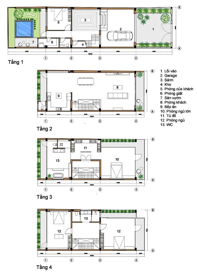 Mẫu thiết kế nhà ống đẹp 4 tầng 98m2 tinh tế-1