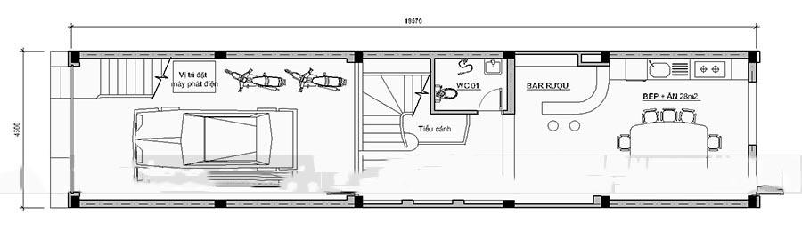 Mẫu thiết kế nhà ống đẹp 4 tầng hiện đại. 1