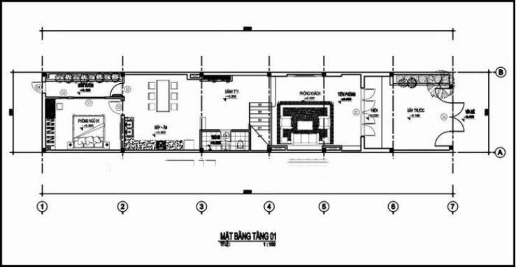 Thiết kế nhà ống đẹp 4 tầng hiện đại 100m2. 2