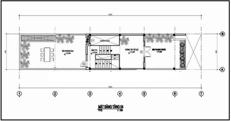 Thiết kế nhà ống đẹp 4 tầng hiện đại 100m2. 5