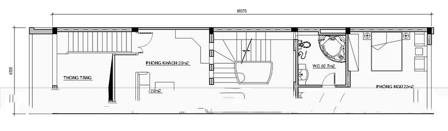 Mẫu thiết kế nhà ống đẹp 4 tầng hiện đại. 2