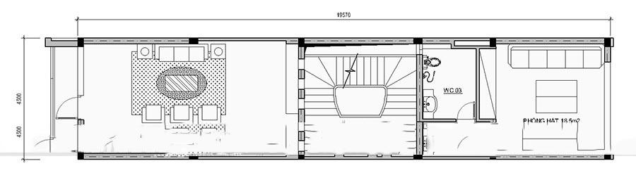 Mẫu thiết kế nhà ống đẹp 4 tầng hiện đại. 3