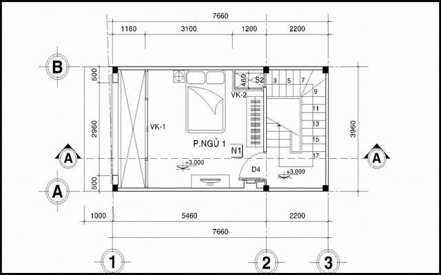 Mẫu thiết kế nhà ống đẹp 4 tầng hiện đại 30m2. 2
