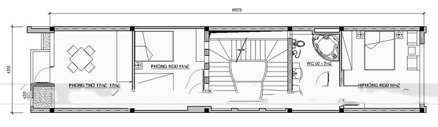 Mẫu thiết kế nhà ống đẹp 4 tầng hiện đại. 4