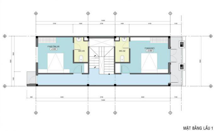 Mặt bằng công năng mẫu thiết kế nhà ống đẹp 4 tầng tân cổ -2