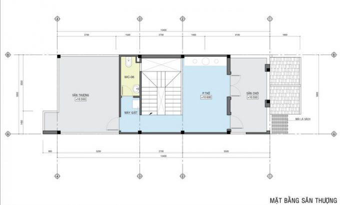 Mặt bằng công năng mẫu thiết kế nhà ống đẹp 4 tầng tân cổ -4