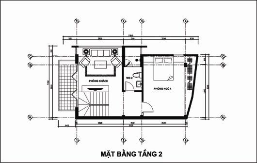 Mẫu thiết kế nhà ống đẹp 5 tầng 4,5x12m. 2