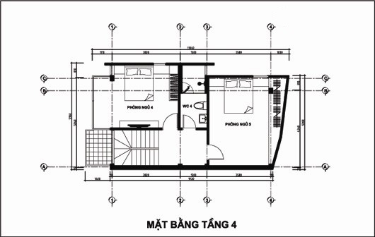 Mẫu thiết kế nhà ống đẹp 5 tầng 4,5x12m. 4