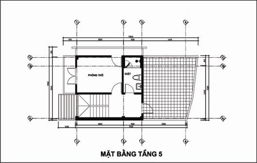 Mẫu thiết kế nhà ống đẹp 5 tầng 4,5x12m. 5