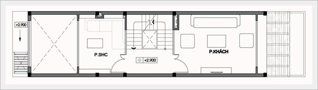Mẫu thiết kế nhà ống đẹp 5 tầng 4x14m. 2