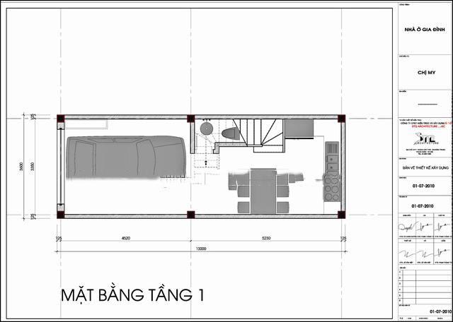 Thiết kế mẫu nhà ống đẹp 5 tầng hiện đại 2