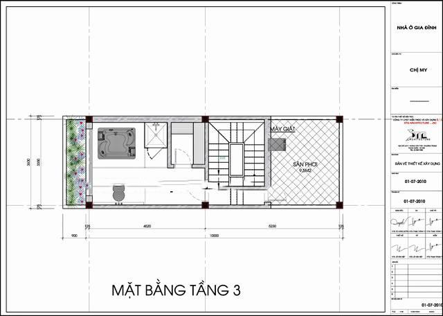 Thiết kế mẫu nhà ống đẹp 5 tầng hiện đại 5