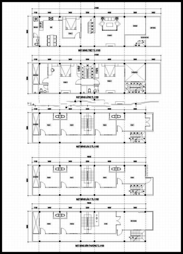 Mẫu thiết kế nhà ống đẹp 5 tầng thanh thoát. 1