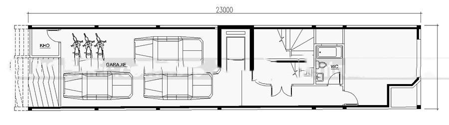 Mẫu thiết kế nhà ống đẹp 7 tầng cho thuê. 1
