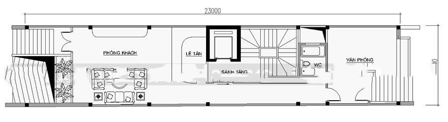 Mẫu thiết kế nhà ống đẹp 7 tầng cho thuê. 2