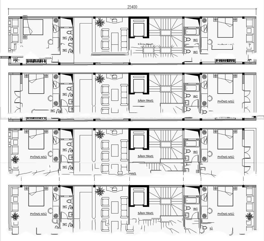 Mẫu thiết kế nhà ống đẹp 7 tầng cho thuê. 3