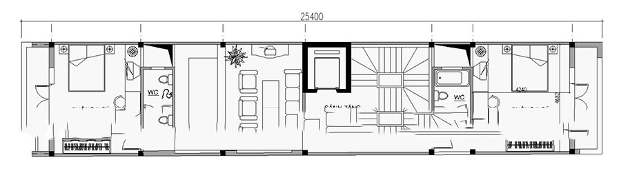 Mẫu thiết kế nhà ống đẹp 7 tầng cho thuê. 4