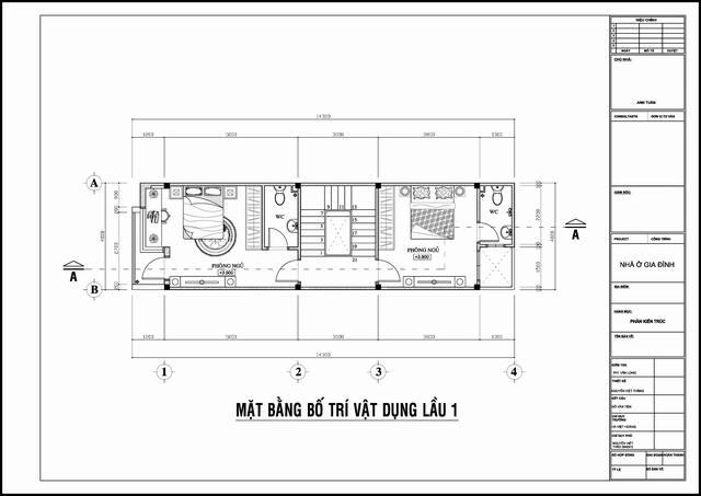 Mẫu thiết kế nhà ống đẹp hiện đại 4 tầng. 2