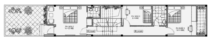 mẫu thiết kế nhà ống đẹp kết hợp kinh doanh. 2