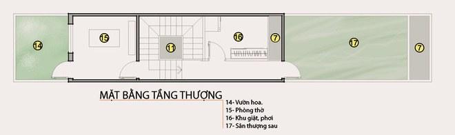 Mặt bằng công năng mẫu thiết kế nhà ống đẹp lung linh 2 tầng hiện đại - 3