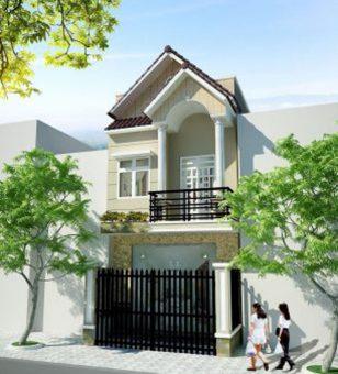 Mẫu thiết kế nhà ống đẹp mái thái 2 tầng sang trọng ở Bắc Ninh