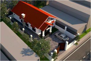 Mẫu thiết kế nhà ống đẹp một tầng mái thái 3 phòng ngủ rộng rãi