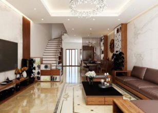 Mẫu thiết kế nhà ống đẹp với nội thất hiện đại sang trọng