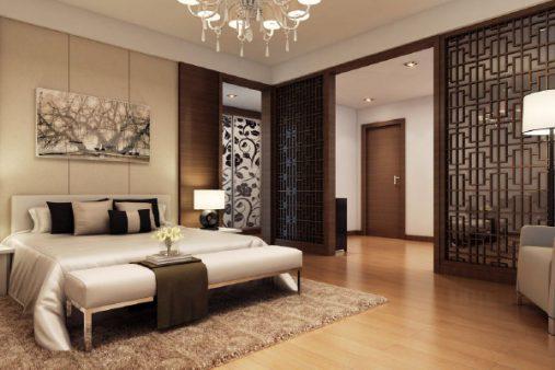 Mẫu thiết kế nhà ống đẹp với nội thất hiện đại ở phòng ngủ