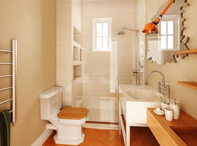 Mẫu thiết kế nhà ống đẹp với nội thất hiện đại ở phòng tắm