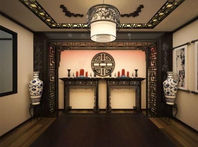 Mẫu thiết kế nhà ống đẹp với nội thất hiện đại và cổ điển ở phòng thờ