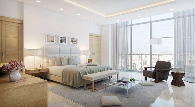 Trang trí nội thất phòng ngủ bố mẹ mẫu thiết kế nhà ống đẹp hợp phong thủy