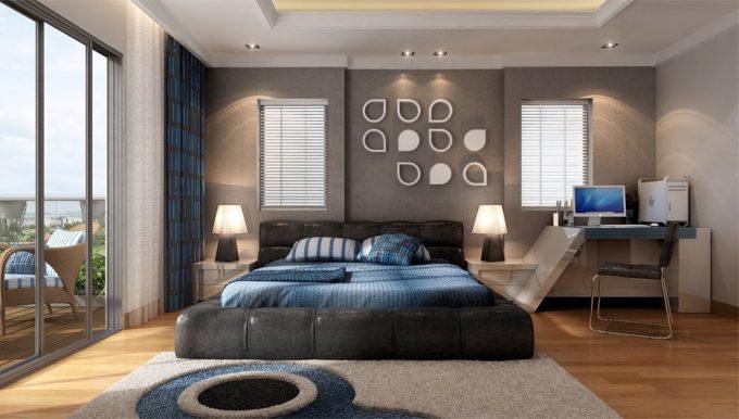Trang trí nội thất phòng ngủ con trai mẫu thiết kế nhà ống đẹp hợp phong thủy