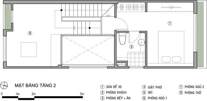 Mặt bằng công năng mẫu thiết kế nhà ống đẹp với tầng lửng thoáng đẹp - 3