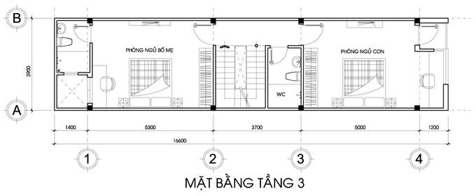 Mẫu thiết kế nhà ống hiện đại 3,5 tầng 70m2.. 4