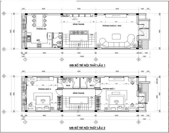 Mẫu thiết kế nhà ống hiện đại 5 tầng 5x15m. 2