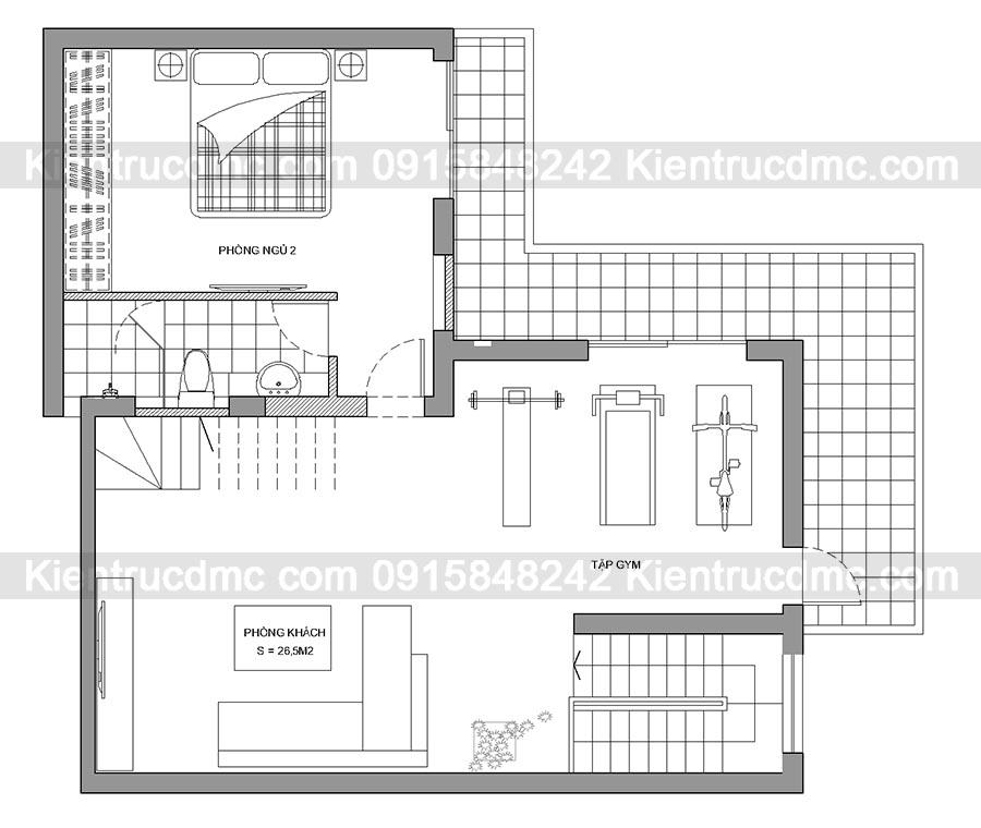 Mẫu thiết kế nhà ống đẹp kiểu biệt thự nhỏ.2