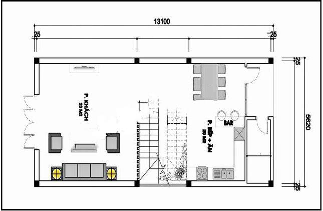 Mẫu thiết kế nhà phố 3 tầng mái thái 70m2. 1