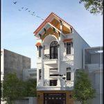 Mẫu thiết kế nhà phố 3 tầng mái thái 70m2