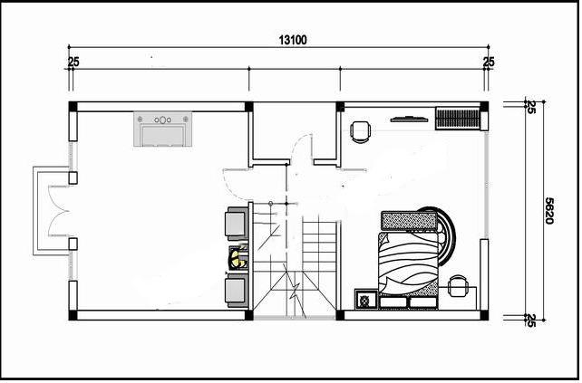 Mẫu thiết kế nhà phố 3 tầng mái thái 70m2. 3