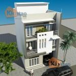 Thiết kế nhà đẹp 3 tầng diện tích 80m2