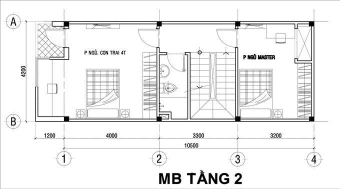 Nhà ống 3 tầng đầy đủ tiện nghi 750 triệu 4,2x10,5m. 2