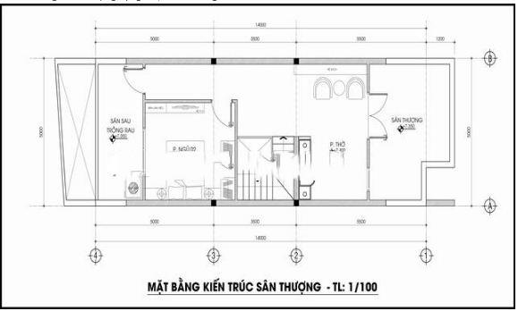 Nhà ống 3 tầng lệch tầng 5x14m hợp phong thủy. 3