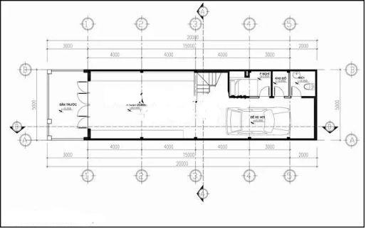 Nhà ống 4 tầng hiện đại lệch tầng 5x20m. 1