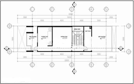 Nhà ống 4 tầng hiện đại lệch tầng 5x20m. 4