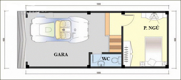 Nhà ống 4 tầng thiết kế lệch tầng hiện đại 45m2. 2
